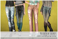 Sims 3 Download: Gradient jeans. Grungy or otherwise <3