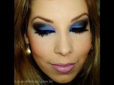Maquiagem azul noite, com Luciane Ferraes - YouTube