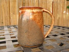 One of a Kind Handmade Pottery Mug in Brown and by JeremiahMahurin, $15.00 - nice