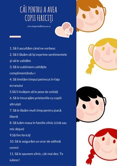 #Parenting #copii #părinți #Descarcă #Infografic #SapteAniDeAcasaRo Căi pentru a avea copii fericiți Kids And Parenting, Parenting Hacks, Class Jobs, Positive Discipline, School Lessons, Raising Kids, Kids Education, Your Child, Montessori