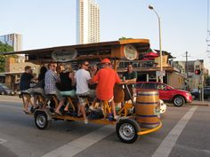 Bike and drink -- at the same time. Only in Austin, Texas.