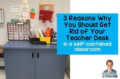 3 Reasons Why You Should Get Rid of Your Teacher Desk in a Self-Contained Classroom - Totally Autism Classroom Desk, Autism Classroom, Classroom Setting, Classroom Organization, Speech Therapy Autism, Self Contained Classroom, Teachers Toolbox, Behavior Interventions, Student Behavior