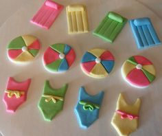 Fondant Pool Party Cupcake Toppers by KraftyKakes on Etsy