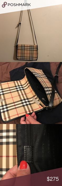 """💯 AUTHENTIC BURBERRY BAG Made in Italy - Serial# T-02-2                                                                             Snap closure, inside zipper, 1 compartment                   Dust bag included. Adjustable strap length - 42"""".                                                                May be used as a crossbody.                               No rips, cracks or stains 🚫 Trades Burberry Bags Shoulder Bags"""