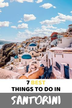 If you're thinking of traveling to Santorini. Here're my best tips. Greece Vacation, Greece Travel, Italy Travel, Travel Europe, Travel Around The World, Around The Worlds, Greece Architecture, Things To Do In Santorini, Italy Destinations