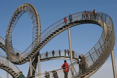 Tiger & Turtle - Magic Mountain sculpture by Heike Mutter and Ulrich Genth, in Duisburg Wanheim, Germany
