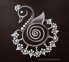 Easy And Beautiful Peacock Rangoli Design For Diwali Easy Rangoli Designs Diwali, Rangoli Simple, Indian Rangoli Designs, Simple Rangoli Designs Images, Rangoli Designs Latest, Rangoli Designs Flower, Free Hand Rangoli Design, Rangoli Border Designs, Small Rangoli Design