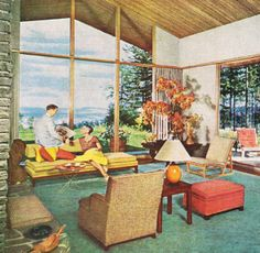 Orange Living Room Better Homes And Gardens May 1969