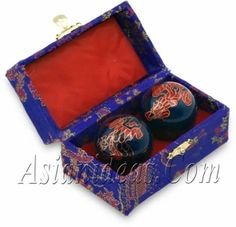 Today's Feature Product : 1.75 Inches Baoding Balls - Dragon    Baoding balls, also know as Chinese stress balls, Chinese health balls, Chinese exercise balls, or even Chinese therapy balls, originated in the Chinese city of Baoding during the Ming Dynasty (1368-1644 AD). According to traditional Chinese beliefs, the vital organs of the human body are all connected to the fingers and feet.     http://www.asianideas.com/baodingballsdragon2.html