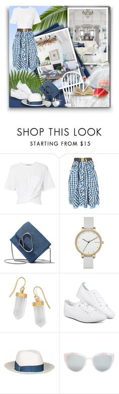 """White t-shirt for summer! - Contest!"" by asia-12 ❤ liked on Polyvore featuring T By Alexander Wang, HIGH, 3.1 Phillip Lim, Skagen, BillyTheTree, Borsalino, Topshop and TIKI"