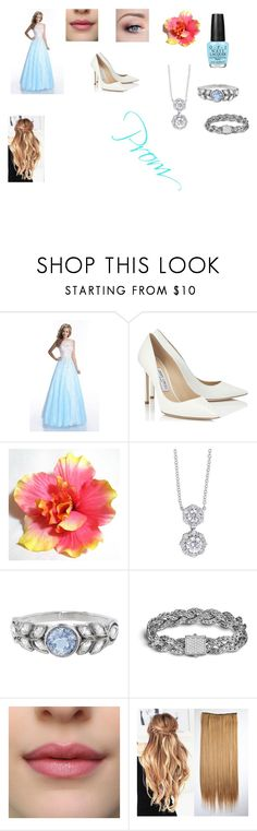 """""""Prom Night"""" by jasmin198 ❤ liked on Polyvore featuring Envious Couture, Jimmy Choo, Forevermark, Cathy Waterman, John Hardy and OPI"""