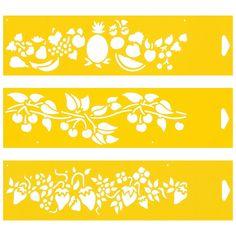 amazon   set of 3   12 x 3 reusable flexible plastic stencils for