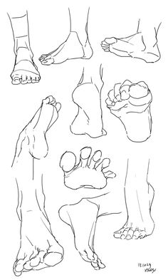 feet references - drawing - foot - ankle - anatomy - drawing tutorial You are i. - feet references – drawing – foot – ankle – anatomy – drawing tutorial You are in the rig - Feet Drawing, Drawing Poses, Drawing Ideas, Drawing Tips, Drawing Drawing, Drawing Studies, Drawing Hands, Gesture Drawing, Face Drawing Tutorials