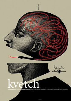 Kvetch    best theatre poster, Festival of Actors 2006 by Sutdio Cuculic