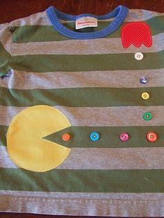 PAC MAN para decorar una remera
