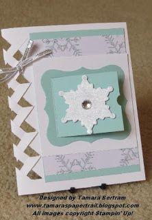 Braided Paper Peek a Boo Card; Handmade Christmas Card; Stampin' Up!; Tamara's Paper Trail
