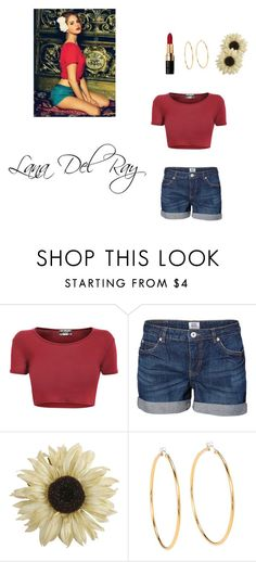 """Lana Del Ray Outfit"" by abbybeaumont ❤ liked on Polyvore featuring Vero Moda, Pier 1 Imports, Juicy Couture and Bobbi Brown Cosmetics"