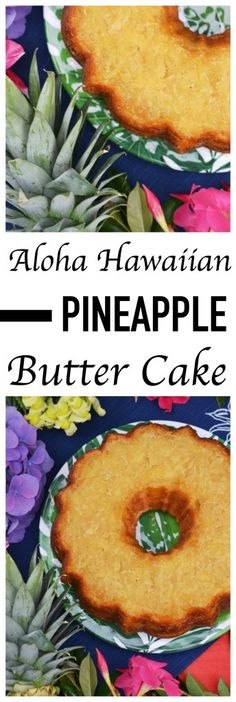 The sweet pineapple and decadent butter flavoring in this tropical Bundt cake truly make you feel like you have arrived in a Hawaiian paradise. Hawaiian Desserts, Köstliche Desserts, Delicious Desserts, Hawaiian Recipes, Tropical Desserts, Hawaiian Parties, Hawaiian Luau, Plated Desserts, Cupcakes
