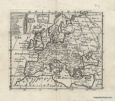 Europe by Robt Morden - 1688 Antique Map – Original, Vintage, Historical Antique Maps  Maps make great gifts for the holidays! www.mapsofantiquity.com