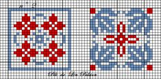 carrés 1 et 2 Cross Patterns, Counted Cross Stitch Patterns, Cross Stitch Embroidery, Embroidery Patterns, Cross Stitch Heart, Cross Stitch Cards, Cross Stitching, Cross Stitch Geometric, Cross Stitch Freebies