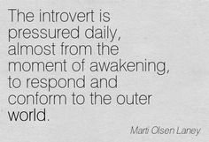 the introvert thinks that you can piss off