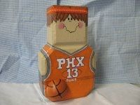 Basketball painted brick door stop
