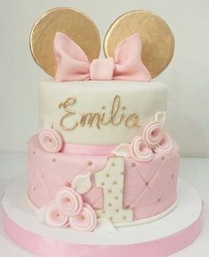 15 Ideas for party girl cake minnie mouse Minnie Mouse Birthday Cakes, Baby Birthday Cakes, Mickey Mouse Cake, Minnie Mouse Party, Girl First Birthday, First Birthday Parties, First Birthdays, Mickey Cakes, Mickey Birthday