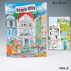 TOP Model Crazy City kreatív matricás tervező