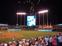 One of my favorite ballparks. Kaufman Stadium, home of the Kansas City Royals.