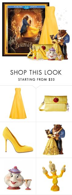 """""""Beauty and the Beast"""" by lilarose111 ❤ liked on Polyvore featuring Disney, Naeem Khan, Harveys, Sergio Rossi, BeautyandtheBeast and contestentry"""