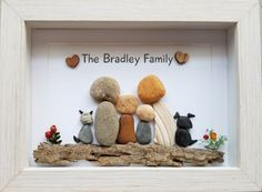 Unique Family Pebble Art Beach Stone Art Rock Art MADE TO ORDER Unique Personalized Family Art Family Personalized Gift Pebble Art delivers online tools that help you to stay in control of your personal information and protect your online privacy. Stone Crafts, Rock Crafts, Arts And Crafts, Stone Pictures Pebble Art, Stone Art, Pebble Painting, Stone Painting, Rock Family, Family Family