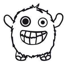 glückliches Monster, kostenlose Plotterdatei von HappyFabric