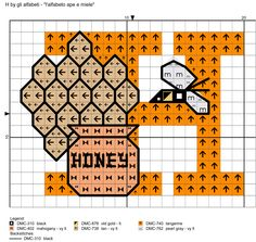 alfabeto ape e miele: H