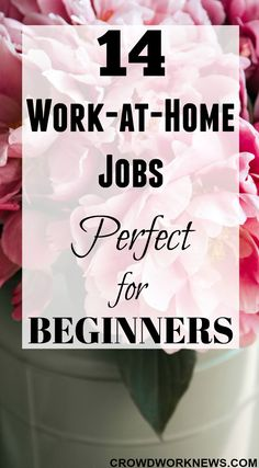 14 Work-at-Home Job Perfect for Beginners