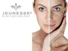 Before and After, using Luminesce Cellular Rejuvenating Serum.