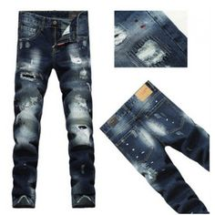 Patch Dsquared2 Men Straight Dsquared2 Jeans