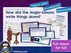 A full lesson for about Anglo-Saxon runes, writing and manuscripts, including a detailed lesson plan, Powerpoint and pupil resource sheets. Primary History, Teaching History, Teaching Resources, Vikings Ks2, Anglo Saxon Runes, Runic Alphabet, Writing Lessons, How To Find Out, Letters