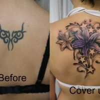 Tribal tattoo to flower 10 mind blowing tattoo cover ups - Rona Tattoo Designs Tribal Tattoos, New Tattoos, Tattoos For Guys, Cool Tattoos, Gemini Tattoos, Worst Tattoos, Star Tattoos, Diy Tattoo, Tattoo Ideas