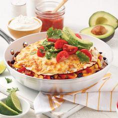 Layer of beef and black bean enchiladas - Je Cuisine - Bœuf-fondue Black Bean Enchiladas, Chimichanga, Tex Mex, Fajitas, Vegetable Pizza, Sandwiches, Beef, Tortillas, Wraps