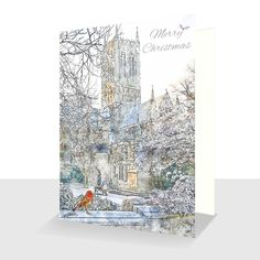 Lincoln Christmas Card : Hand Finished with Sparkle, Greetings Cards Online Very Merry Christmas, Christmas Cards, Unique Cards, White Envelopes, Card Stock, Original Paintings, Greeting Cards, Sparkle, Scene