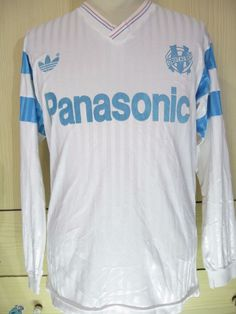 646816238 Olympique marseille adidas france 1990 home l s football maillot soccer  shirt m