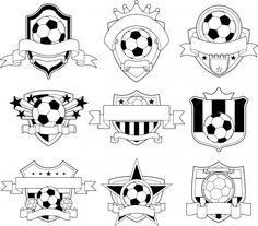 Soccer moms! Must have for your kids. Coloring pages. Soccer Logo Emblems | KidsPressMagazine.com #moms #boys