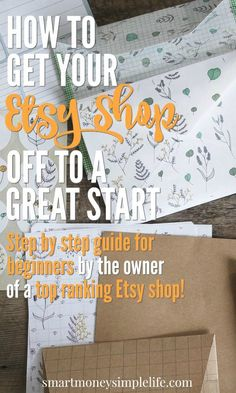 Start an Etsy Shop | Sell Online | Make Money Online | Tips for Etsy Sellers | Get your Etsy store off to a great with this step by step guide from the owner of a top of category Esty store. No more excuses! Get that side hustle or home based business started today. Everything you need to know to get your Etsy off to an amazing start.
