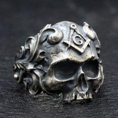 Hommes skull Acier Inoxydable Hommes Bracelet tete de mort rocker chars chaîne 22cm