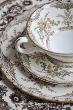 Tea Cup and Lovely Plates