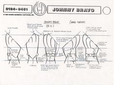 "Model Sheets on Twitter: ""Johnny Bravo head turnaround model sheet from 'Pitching Johnny Bravo' at http://t.co/igZTL1kwxL Hanna-Barbera 1994 http://t.co/imWGgyPCJY"""