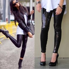 The BROOKLYN sequin leggings - BLACK HP 12/22Super fun & which girl isn't head over heels in love with sequins? Perfect to jazz up any outfit. So versatile. Can be worn semi casual or dressed to kill! LIMITED QUANTITIES AVAILABLE. Get yours soon! ‼️NO TRADE‼️ Pants Leggings