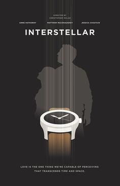 Interstellar (2014) ~ Minimal Movie Poster by Chun-Yao Peng #amusementphile