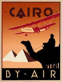 Cairo --I love these old travel posters, we tried use these to inspire our advertisements for Much Ado... I m not sure if anyone got it, but I thought it was nifty.
