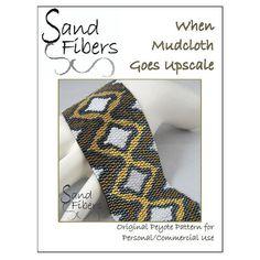 Peyote Pattern  When Mudcloth Goes Upscale Peyote by SandFibers